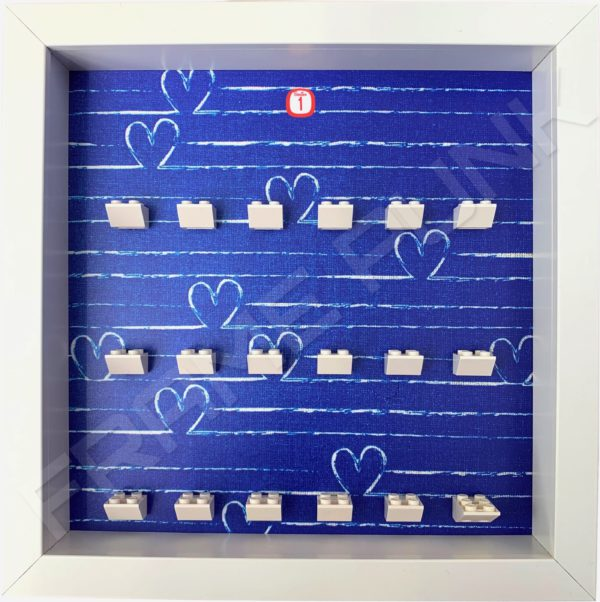 FRAMEPUNK white display frame compatible with LEGO Disney Minifigures Series 1 (Heart)