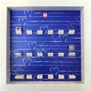 FRAMEPUNK white display frame compatible with LEGO Disney Minifigures Series 2 (Heart)