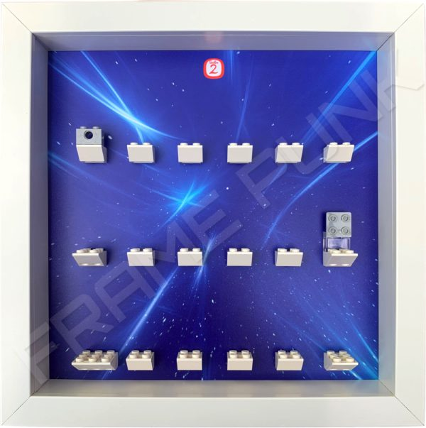 FRAMEPUNK white display frame compatible with LEGO Disney Minifigures Series 2 (Starry)