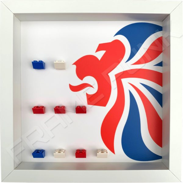 LEGO Team GB minifigures display frame