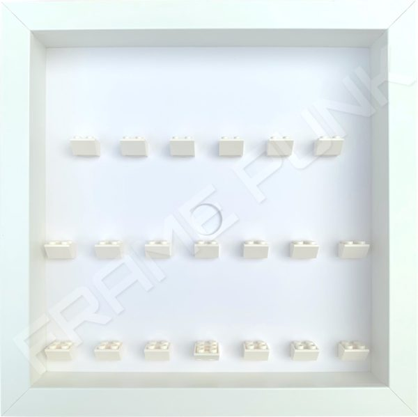 FRAMEPUNK all white display frame compatible with LEGO Batman Movie Minifigures Series 1 & 2