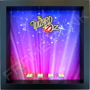 FRAMEPUNK Wizard of Oz black display frame compatible with LEGO Movie 2 Minifigures Series