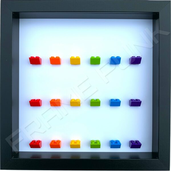 FRAME PUNK Rainbow display frame for 18 minifigures (black)