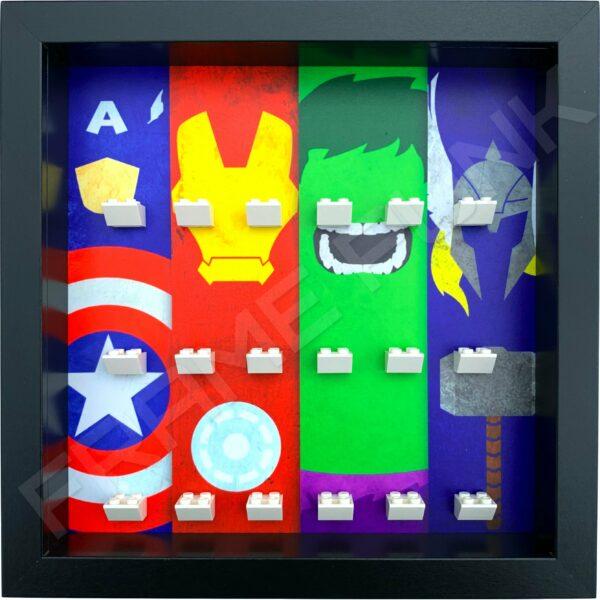 FRAME PUNK display frame compatible with LEGO Marvel Superhero minifigures (Black)