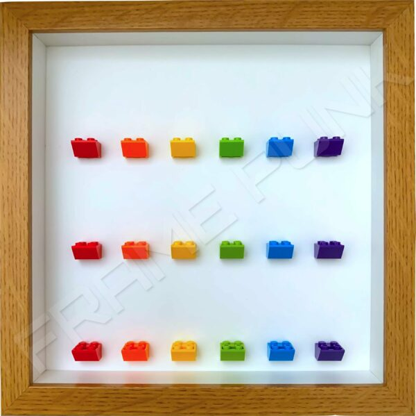FRAMEPUNK 18 Rainbow Display Frame compatible with Lego minifigures