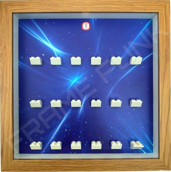 FRAMEPUNK Lego Disney Minifigures Series 1 Display Frame (Oak Starry)