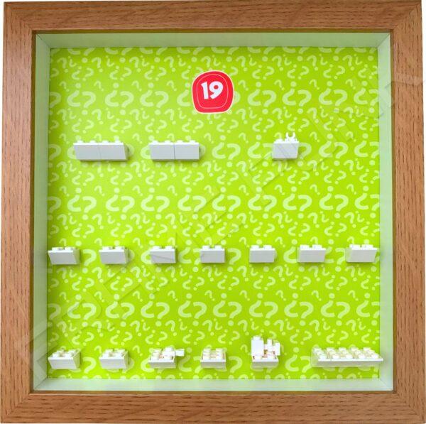 FRAMEPUNK Lego Minifigures Series 19 Display Frame (Oak)