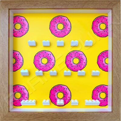FRAMEPUNK Lego The Simpsons Minifigures Series Display Frame (Donuts)