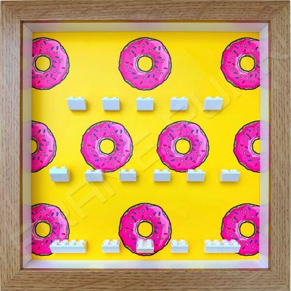 FRAMEPUNK Lego The Simpsons Minifigures Series Display Frame (Donuts)