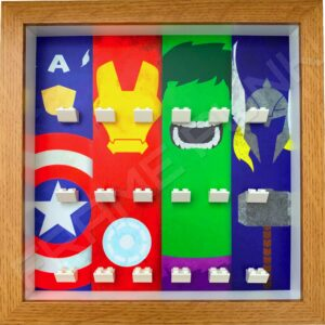 FRAMEPUNK Superhero Display Frame compatible with Lego minifigures