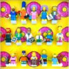 FRAMEPUNK display showing Lego The Simpsons Minifigures Series 2 (Donuts)