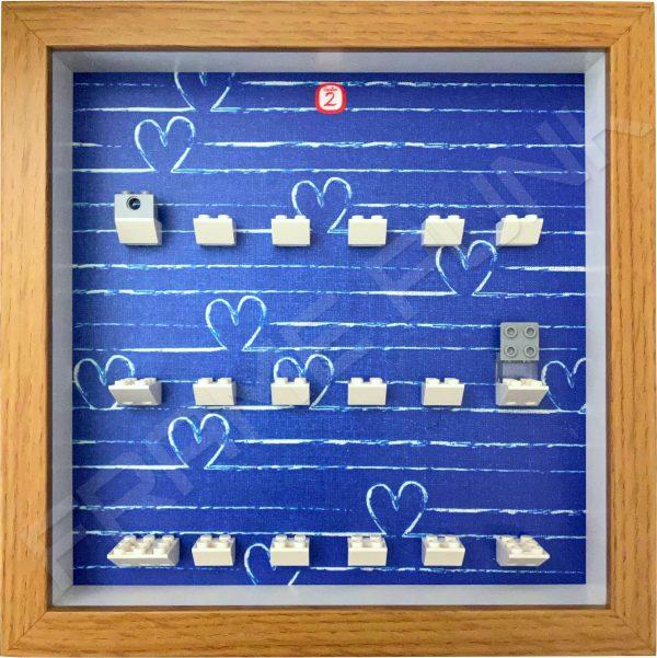 FRAMEPUNK Lego Disney Minifigures Series 2 Display Frame (Oak Heart)