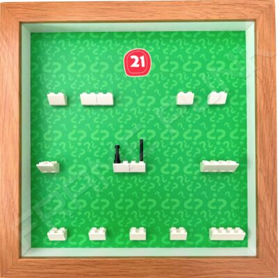 FRAMEPUNK Lego Minifigures Series 21 Display Frame (Oak)