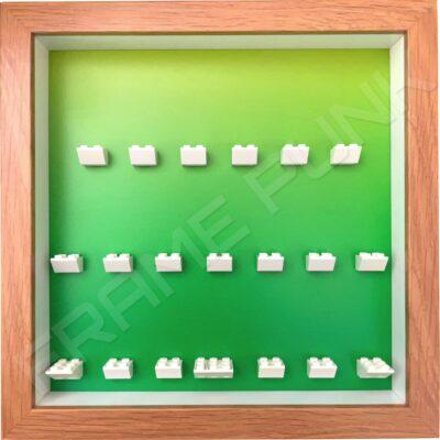 FRAMEPUNK LEGO Ninjago Movie Minifigures Series display frame (green fade)