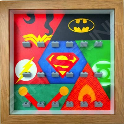 FRAMEPUNK display frame compatible with LEGO DC Justice League minifigures