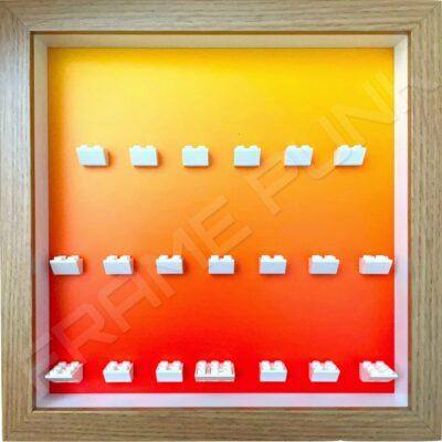 FRAMEPUNK LEGO Ninjago Movie Minifigures Series display frame (orange fade)