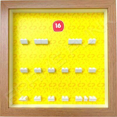 FRAMEPUNK Lego Minifigures Series 16 Display Frame (Oak)