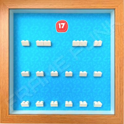 FRAMEPUNK Lego Minifigures Series 17 Display Frame (Oak)