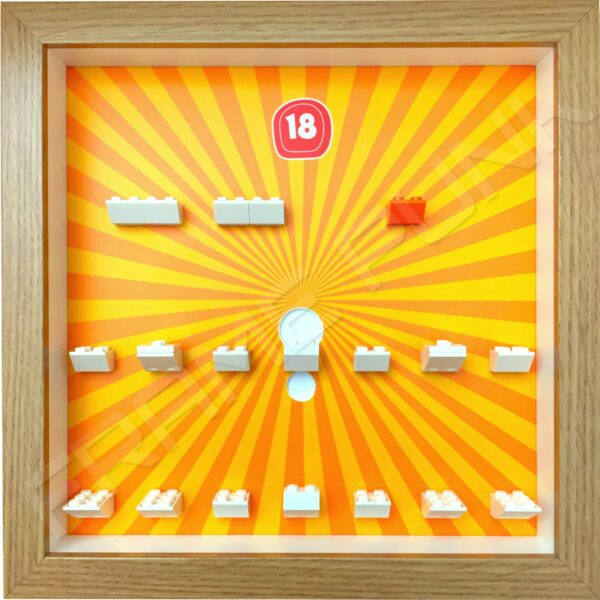 FRAMEPUNK Lego Minifigures Series 18 Display Frame (Oak)