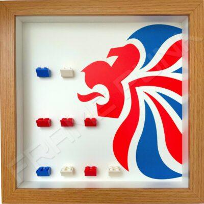 FRAMEPUNK display compatible with LEGO Team GB minifigures series (Oak)