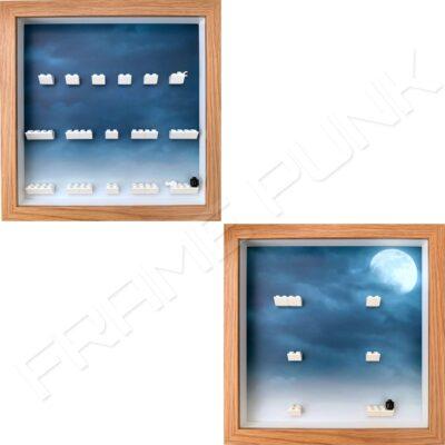 FRAMEPUNK Harry Potter and Fantastic Beasts Lego Minifigures Series 1 Display Frames (Oak)